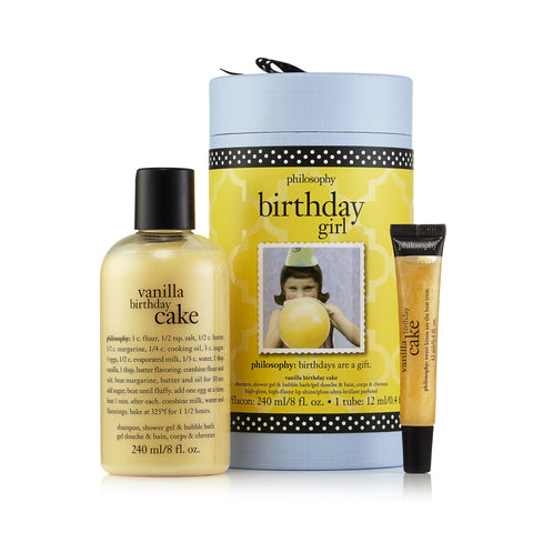 Birthday Girl Vanilla Cake Gift Set By Philosophy