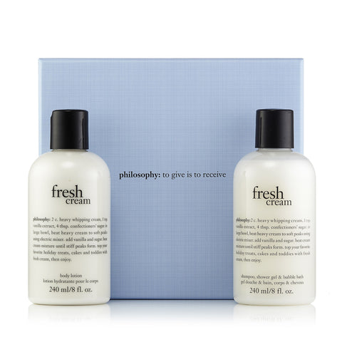Fresh Cream Shower Gel and Shampoo Gift Set by Philosophy 8.0 oz. Each