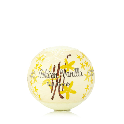 Tahitian Vanilla Hand Made Bath Bomb by Primal Elements 4.8 oz.