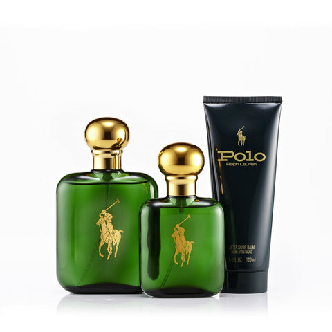 Polo Green Gift Set and Dopp Kit Bag for Men by Ralph Lauren