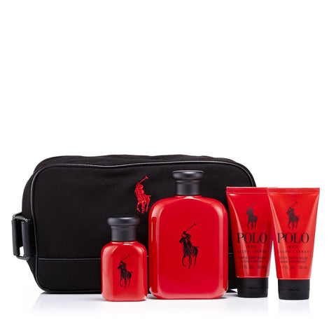 Polo Red Gift Set and Dopp Kit Bag for Men by Ralph Lauren