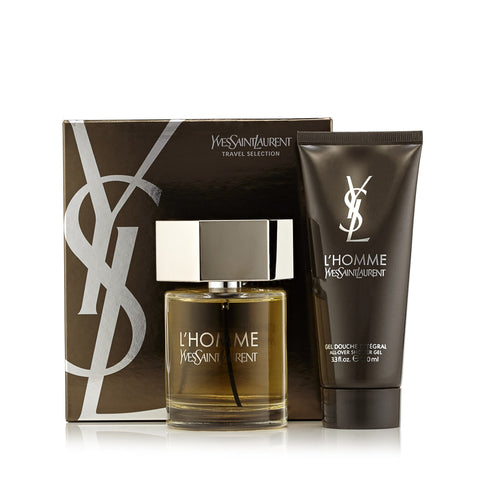 L'Homme Gift Set Eau De Toilette and Shower Gel for Men by Yves Saint Laurent 3.3 oz.