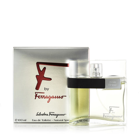 F Eau de Toilette Spray for Men by Ferragamo 3.4 oz.