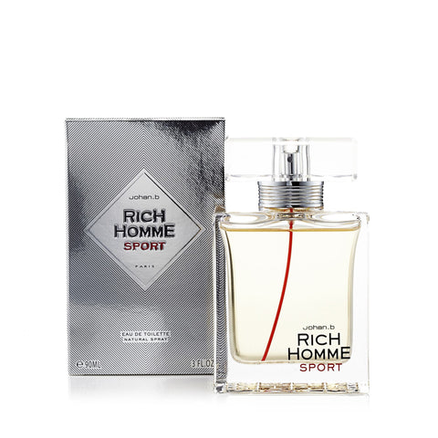 Rich Homme Sport Eau de Toilette Mens Spray 3 oz.