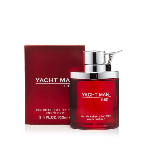 Yacht Man Red Eau de Toilette Mens Spray 3.4 oz.
