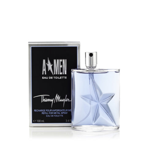 Thierry Mugler A Star Men Refill Eau de Toilette Mens Spray 3.3 oz. Refill Bottle