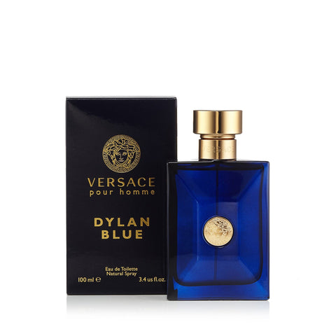 Dylan Blue Eau de Toilette Spray for Men by Versace 3.4 oz.