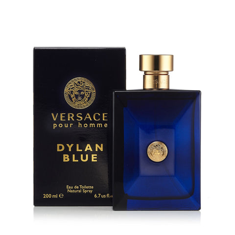 Dylan Blue Eau de Toilette Spray for Men by Versace 6.7 oz.