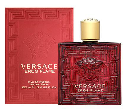 Eros Flame Eau de Parfum Spray for Men by Versace 3.4 oz.
