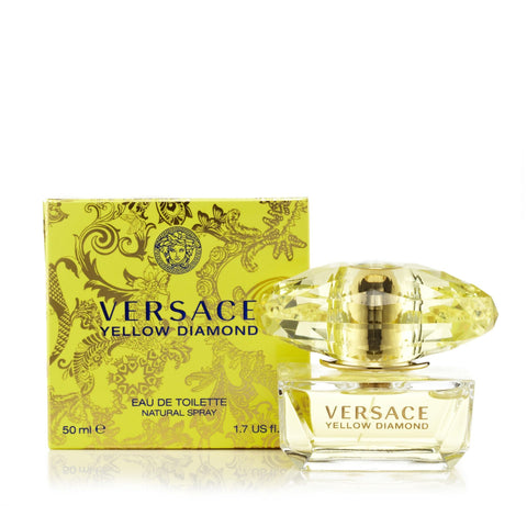 Versace Yellow Diamond Eau de Toilette Womens Spray 1.7 oz.