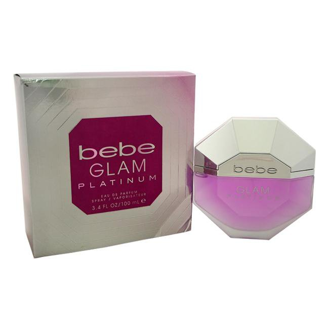 BEBE GLAM PLATINUM BY BEBE FOR WOMEN -  Eau De Parfum SPRAY