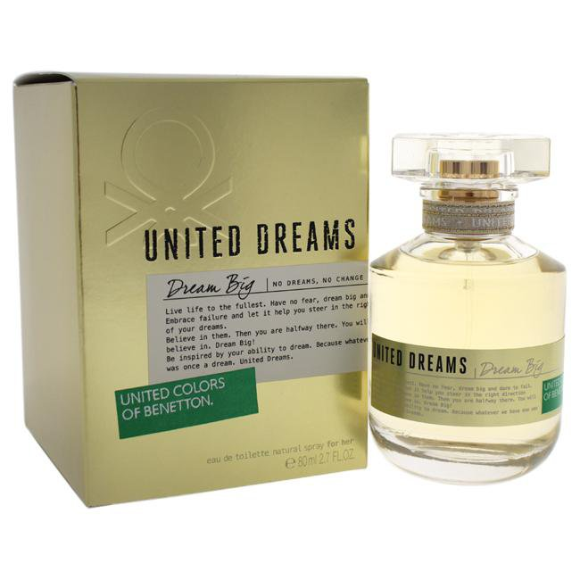 UNITED DREAMS DREAM BIG BY UNITED COLORS OF BENETTON FOR WOMEN -  Eau De Toilette SPRAY