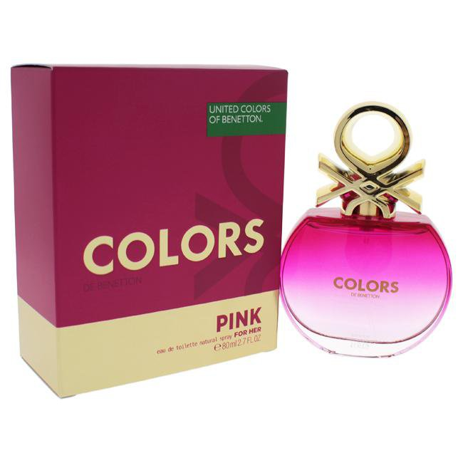 COLORS PINK BY UNITED COLORS OF BENETTON FOR WOMEN -  Eau De Toilette SPRAY