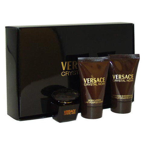 Versace Crystal Noir by Versace for Women - 3 Pc Mini Gift Set 5ml EDT Splash, 0.8oz Bath and Showerimage