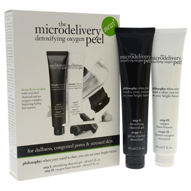 The Microdelivery Detoxifying Oxygen Peel Kit by Philosophy for Women - 2 Pc Kit 2oz Detoxifying Cha