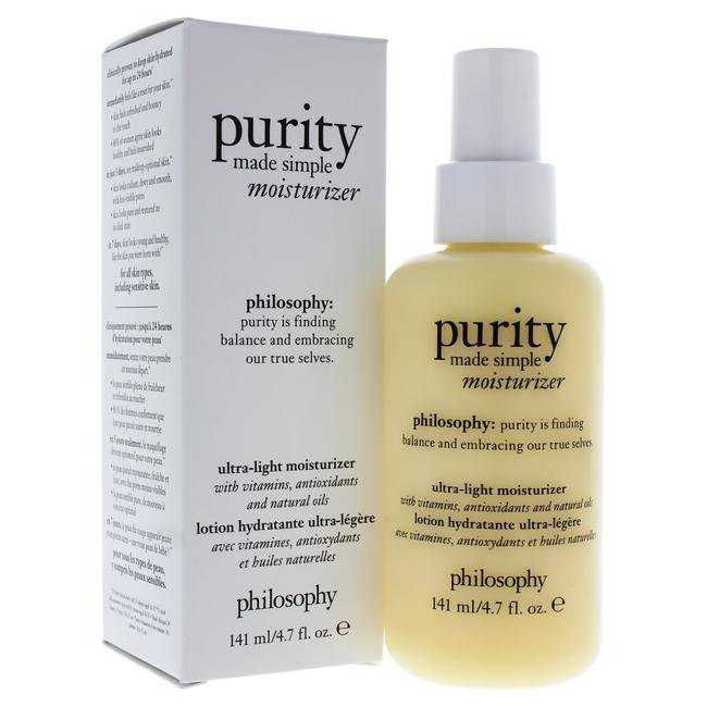 Purity Made Simple Ultra Light Moisturizer by Philosophy for Women - 4.7 oz Moisturizer