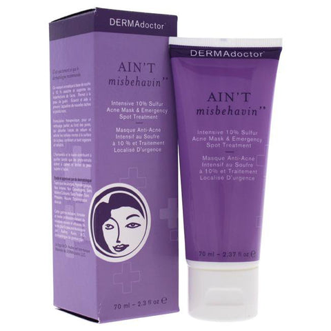 Aint Misbehavin Intensive 10% Sulfur Acne Mask by DERMAdoctor for Women - 2.3 oz Treatmentimage