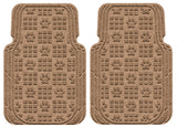 Machine Washable Car Mats - Paw Print Large Front Set