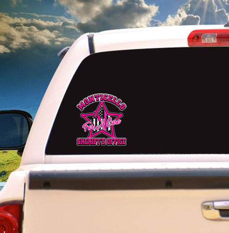 Sheriff Office Breast Cancer Awareness Decal