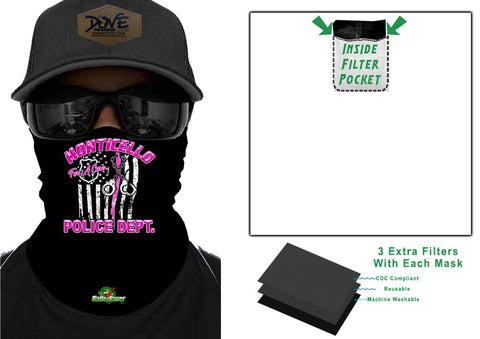 Cops For A Cure POLICE GaiterSaver Filtered Neck Gaiter (GS-PDBCCUFF)