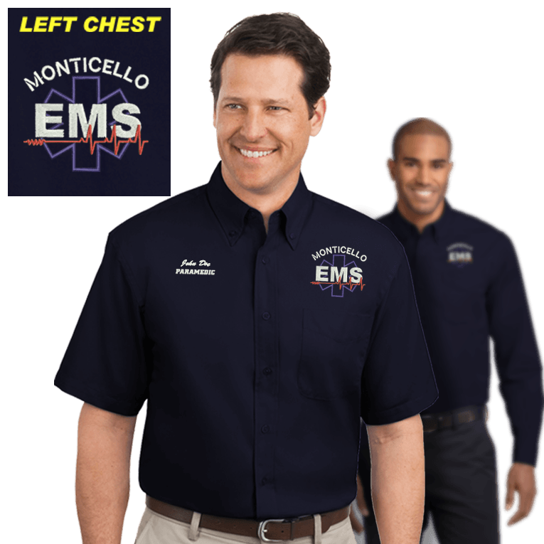 EMS Embroidered Dress Shirts (DD-EMSBD), Embroidery, dovedesigns.com, Dove Designst-shirts, shirts, hoodies, tee shirts, t-shirt, shirts