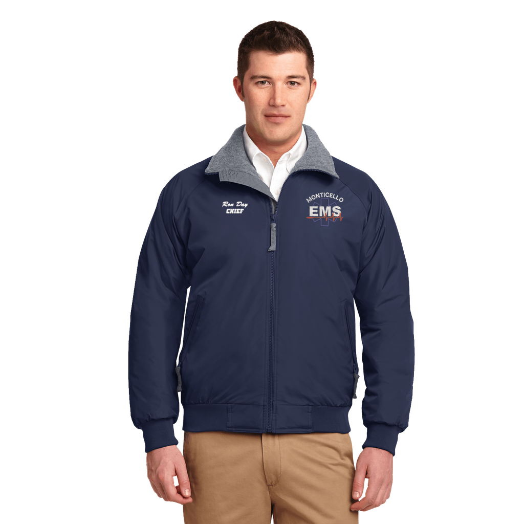 Navy EMS Embroidered Jacket (DD-EMSJAC) No Minimum required