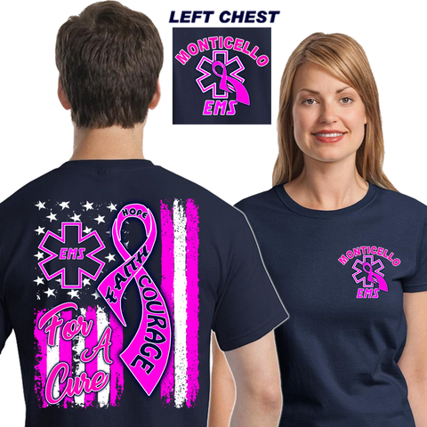 EMS For A Cure (DD-EPINK18), For A Cure, dovedesigns.com, Dove Designst-shirts, shirts, hoodies, tee shirts, t-shirt, shirts