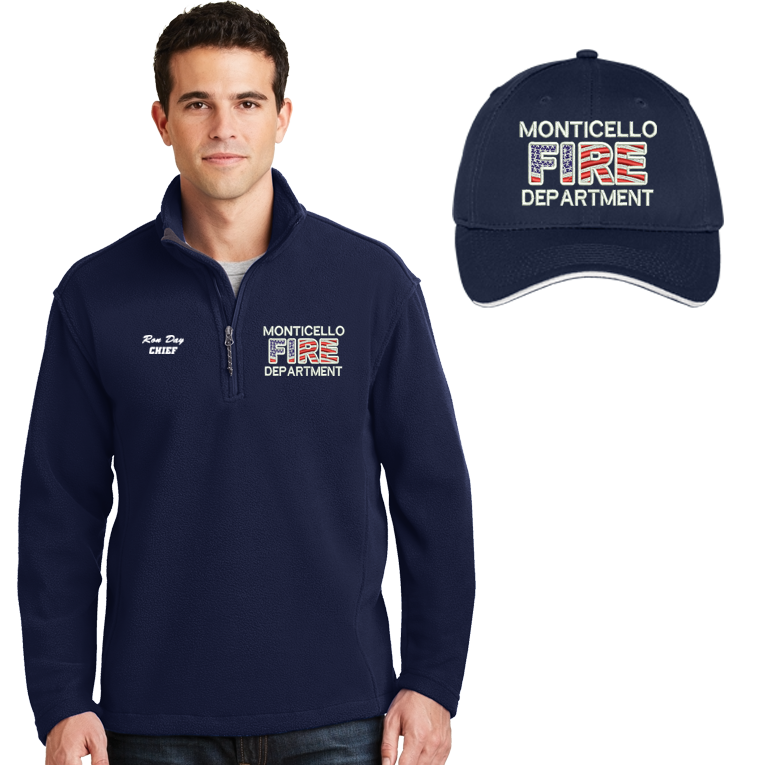 Firefighters Embroidered Jacket & Cap Combo
