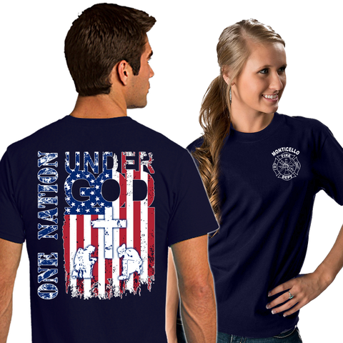 Fire Department Supporter Shirts (DD-FDONENATION), Supporter Shirts, dovedesigns.com, Dove Designst-shirts, shirts, hoodies, tee shirts, t-shirt, shirts