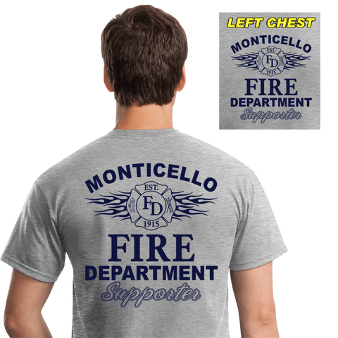 Fire Department Supporter Shirts (DD-FDS3) Gray, Supporter Shirts, dovedesigns.com, Dove Designst-shirts, shirts, hoodies, tee shirts, t-shirt, shirts