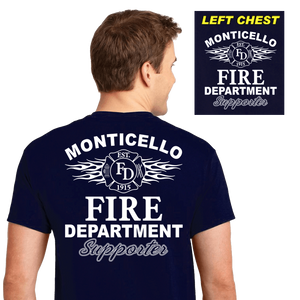 Fire Department Supporter Shirts (DD-FDS3) Navy, Supporter Shirts, dovedesigns.com, Dove Designst-shirts, shirts, hoodies, tee shirts, t-shirt, shirts