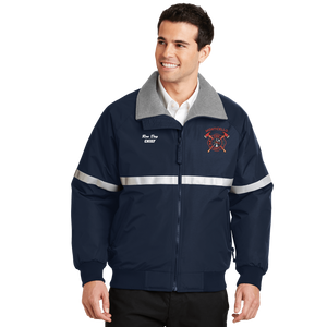 Navy Reflective Firefighters Embroidered Jacket (DD-FJACR) No minimum required, Embroidery, dovedesigns.com, Dove Designst-shirts, shirts, hoodies, tee shirts, t-shirt, shirts