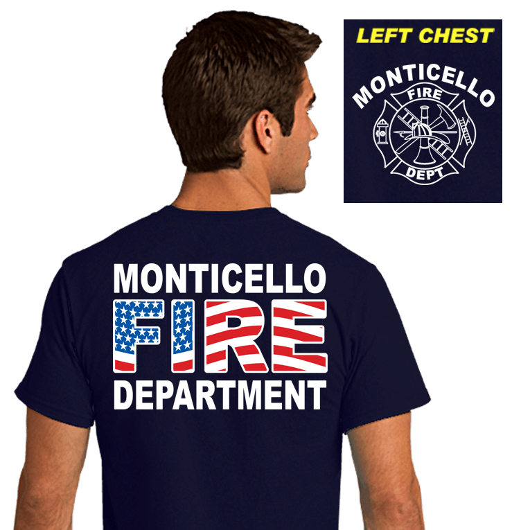 Fire Department Duty Shirts (DD-FLAG)