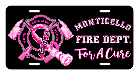 License Plate (DD-LPFDBCP) Firefighters for A Cure, Signs & Decals, Signs2c, Dove Designst-shirts, shirts, hoodies, tee shirts, t-shirt, shirts