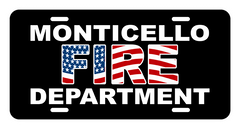 License Plate (DD-LPFDFLAG) Firefighter flag