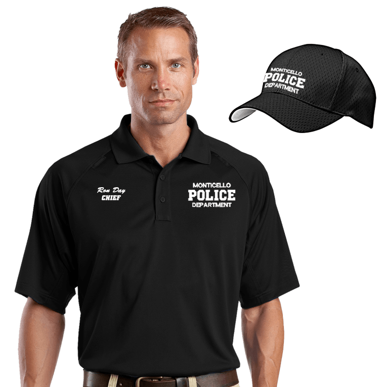 law enforcement embroidered moisture wicking combo dove