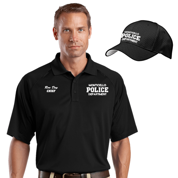 Law enforcement embroidered moisture wicking combo dove for Embroidered police polo shirts