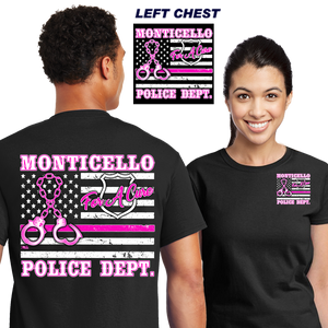 Cops For A Cure (DD-PDBCFL), For A Cure, dovedesigns.com, Dove Designst-shirts, shirts, hoodies, tee shirts, t-shirt, shirts
