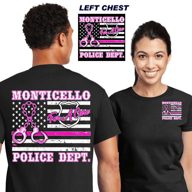 Cops for a Cure (DD-PDBCFL) (12 piece min.), For A Cure, dovedesigns.com, Dove Designst-shirts, shirts, hoodies, tee shirts, t-shirt, shirts