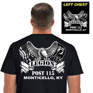 Legion Post Shirts (DD-POST2) Black, Post Shirts, dovedesigns.com, Dove Designst-shirts, shirts, hoodies, tee shirts, t-shirt, shirts