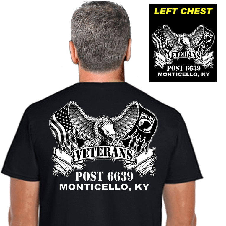 Veterans Post Shirts (DD-POST2) Black
