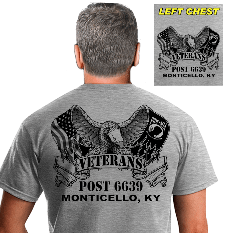 Veterans Post Shirts (DD-POST2) Gray