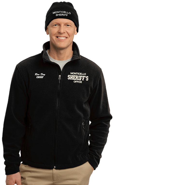 Sheriff's Office Embroidered Jacket & Beanie Combo