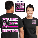 Breast cancer  awareness POLICE leo pink shirt