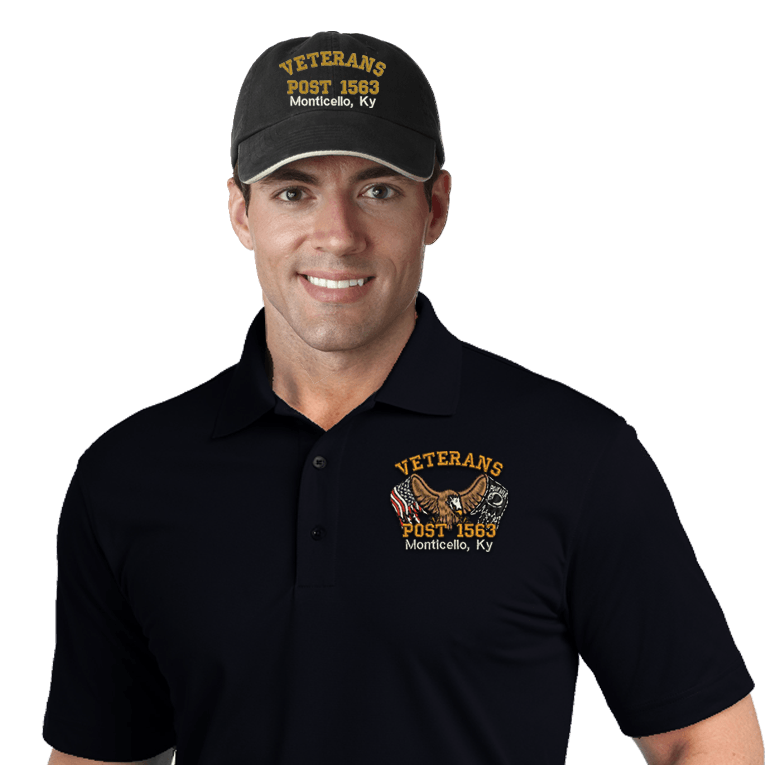 Veterans Embroidered Combos (DD-VCEMB2) Black
