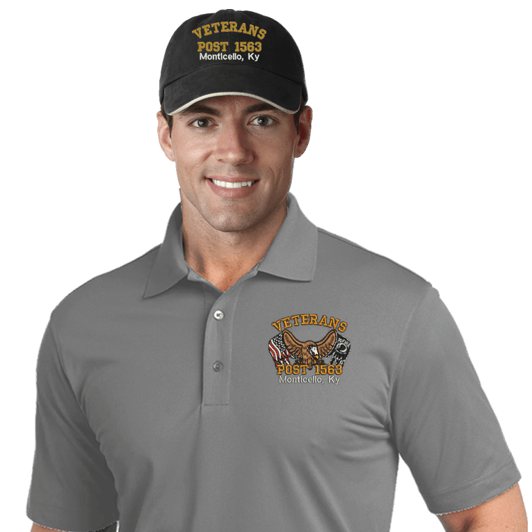 Veterans Embroidered Combos (DD-VCEMB2) Gray