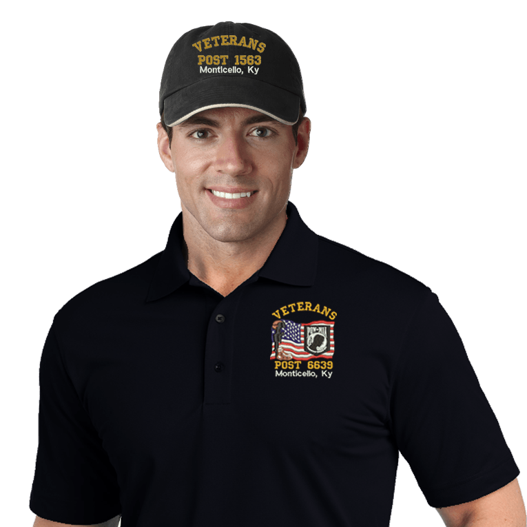 Veterans Embroidered Combos (DD-VCEMB3) Black