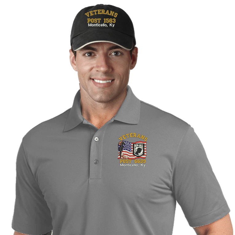 Veterans Embroidered Combos (DD-VCEMB3) Gray