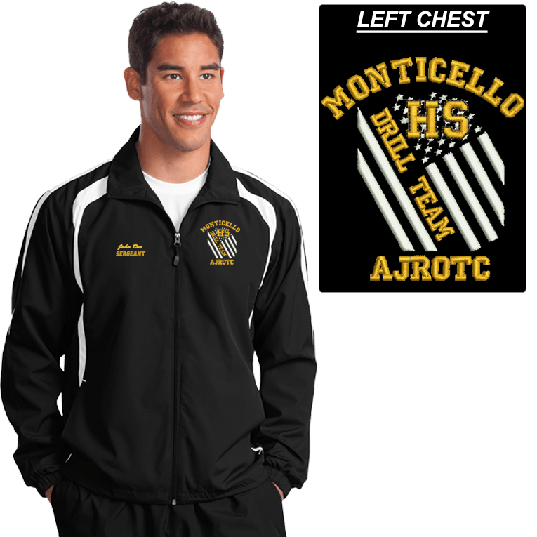JROTC Embroidered DRILL TEAM Wind Jacket (DD-WJDRILLFL) SOLD SEPARATELY, Embroidery, dovedesigns.com, Dove Designst-shirts, shirts, hoodies, tee shirts, t-shirt, shirts