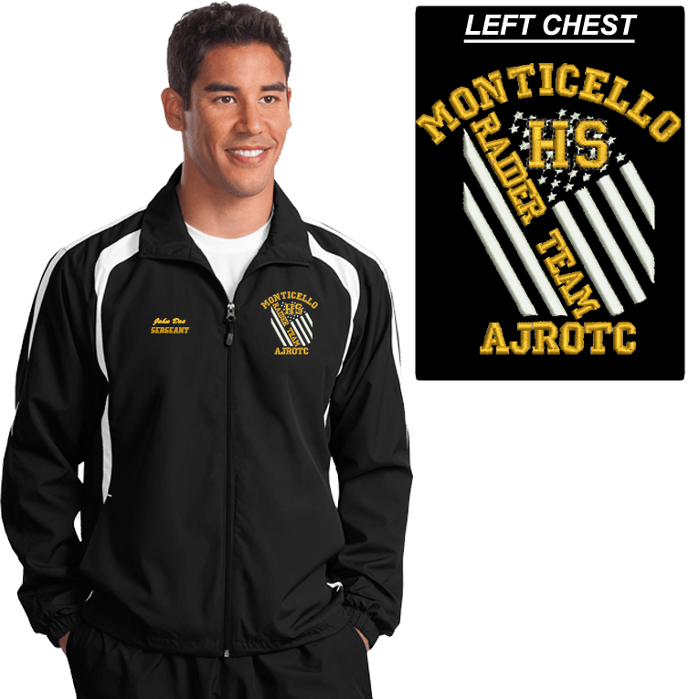 JROTC Embroidered RAIDER TEAM Wind Jacket (DD-WJRAIDFL) SOLD SEPARATELY